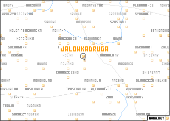 map of Jałówka Druga
