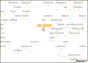 map of Jałówka