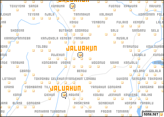 map of Jaluahun
