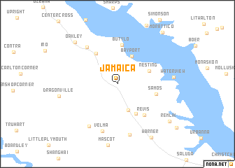 Jamaica United States USA Map Nonanet - Map of jamaica and us