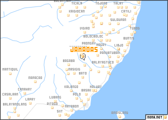 map of Jamaoas