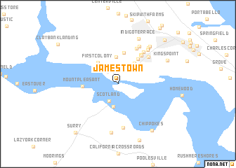 Jamestown (United States - USA) map - nona.net