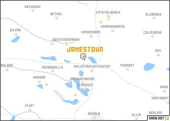 Jamestown United States USA map nonanet