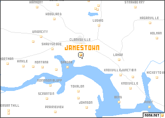 Map Of Us Western States: Jamestown On Us Map