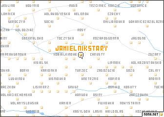 map of Jamielnik Stary