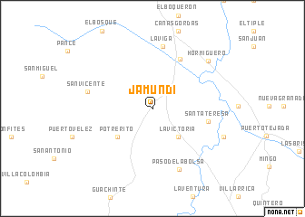 map of Jamundí