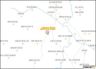 map of Jamundí