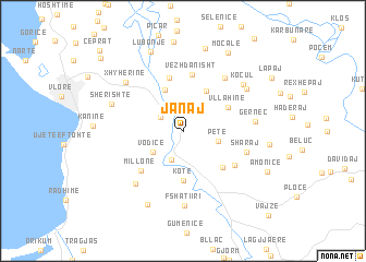 map of Janaj