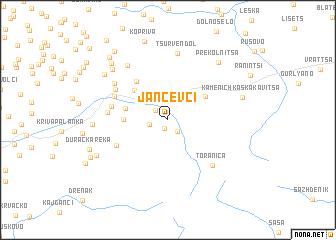 map of Jančevci