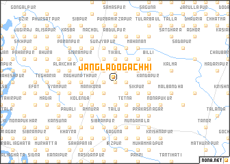 map of Jangla Dogāchhi