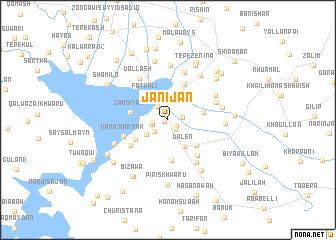 map of Jānijān