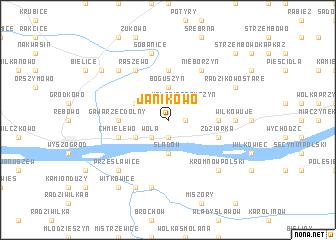 map of Janikowo