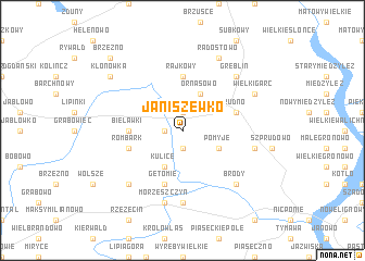 map of Janiszewko