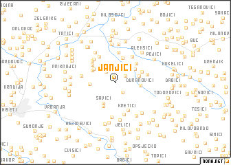 map of Janjići