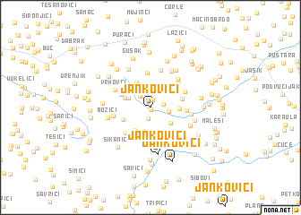 map of Jankovići