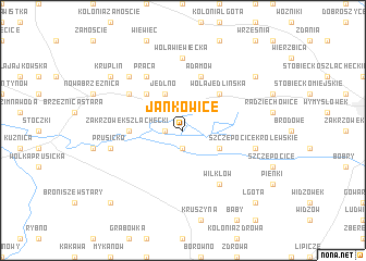 map of Jankowice