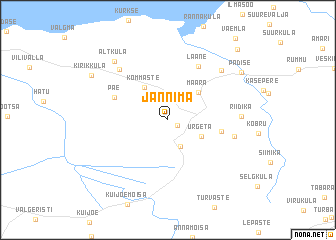 map of Jännima