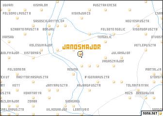 map of Jánosmajor
