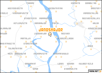 map of Jánosmajor