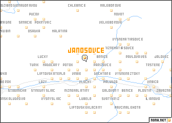 map of Jánošovce