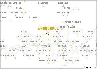 map of Jánošovce