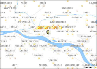 map of Janówek Drugi