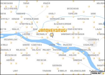 map of Janówek Drugi