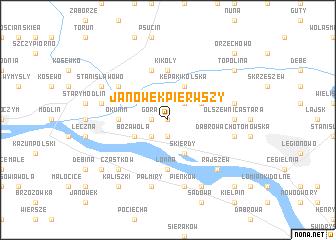 map of Janówek Pierwszy