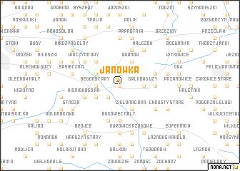 map of Janówka
