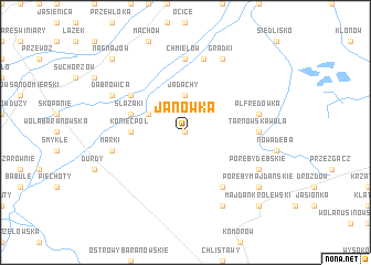 map of Janówka