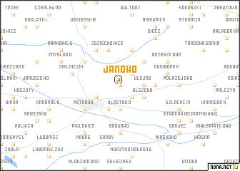 map of Janowo
