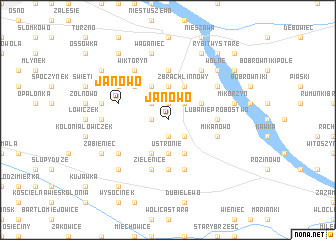map of Janowo