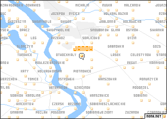 map of Janów