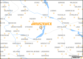 map of Januszewice
