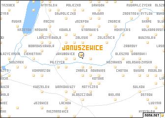 map of Januszewice