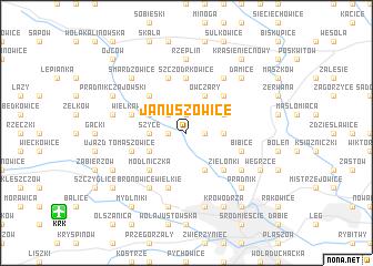 map of Januszowice