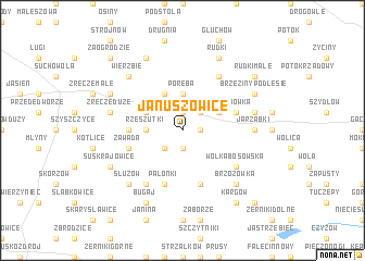 map of Januszowice