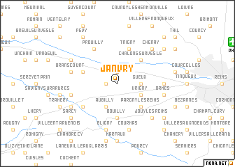 map of Janvry