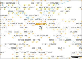 map of Japons