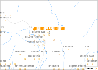 map of Jaramillo Arriba