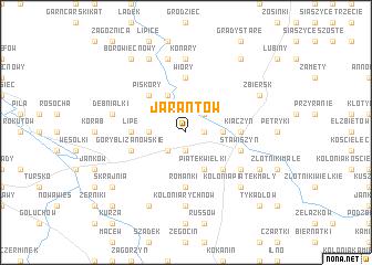 map of Jarantów