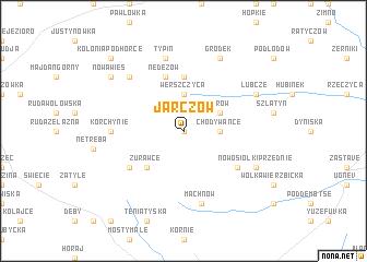 map of Jarczów