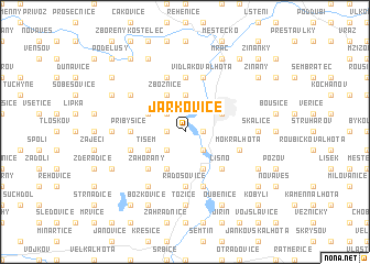 map of Jarkovice