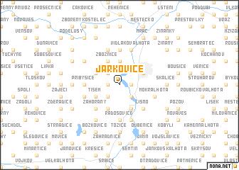 map of Jarkovice