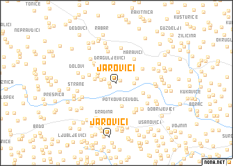 map of Jarovići