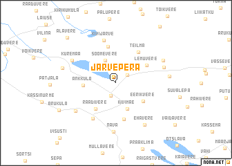 map of Järvepera