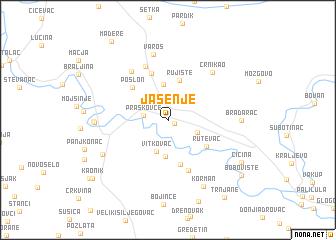 map of Jasenje