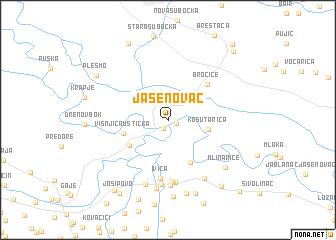 jasenovac mapa Jasenovac (Croatia) map   nona.net jasenovac mapa