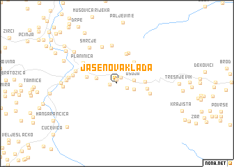 map of Jasenova Klada