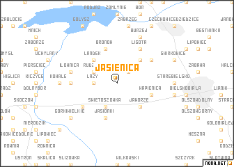 map of Jasienica